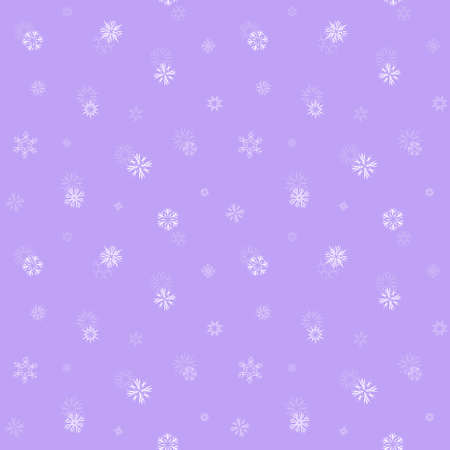 Seamless pattern with snowflakes. Winter endless background with fragile different crystals.Vector illustration