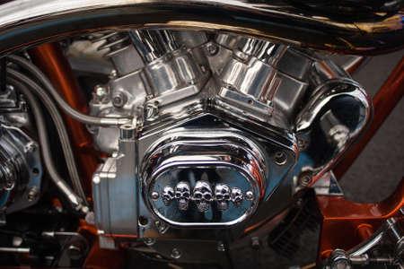 The big motorcycle engine chrome