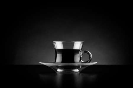 Coffee cup with dark  photo