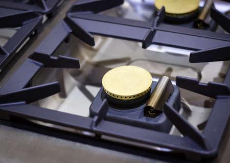 modern appliance stainless steal kitchen burner photo