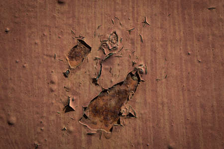 rusted background: old rusted aged weathered corroded steel background Stock Photo