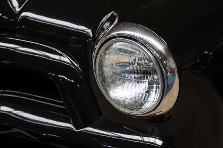 headlight: vintage old retro oldtimer classic car headlight