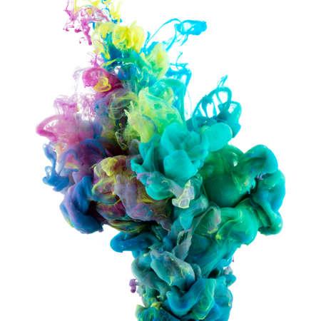 Résumé couleur de la peinture acrylique tourbillonne dans l'eau, fond. Banque d'images - 44708787