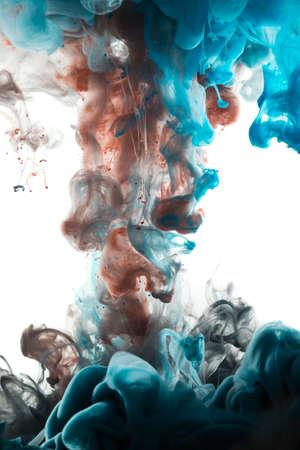 Résumé couleur de la peinture acrylique tourbillonne dans l'eau, fond. Banque d'images - 44803782