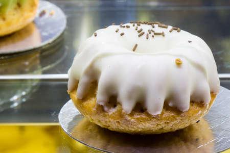 creamy: elegant fresh creamy small white cake dessert