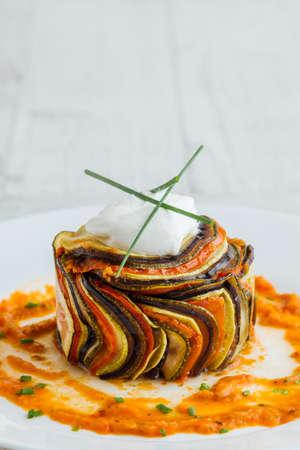 gourmett confit byaldi dish or french ratatouille