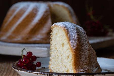 Sweet tasty rustic homemade bundt cake dessert