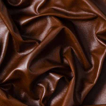Closeup of color leather material texture background