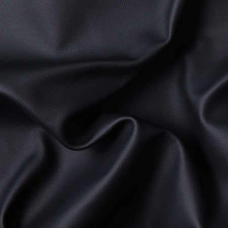 Closeup of dark color leather material texture background Banco de Imagens