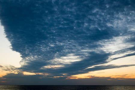 sunrise over the sea, morning colors