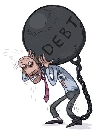 負荷。借金。ベクトル図  イラスト・ベクター素材