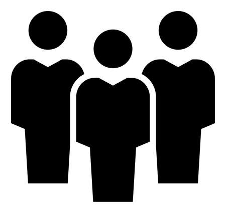 Vector icon of people group