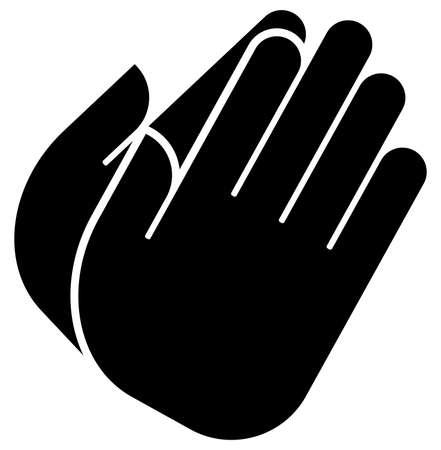 Een vectorpictogram van gevouwen handen Stock Illustratie