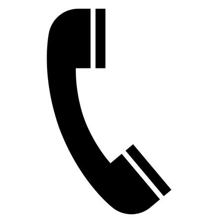Black vector sign of telephone receiver.
