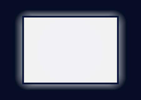 Vector illustration of lightbox on dark background