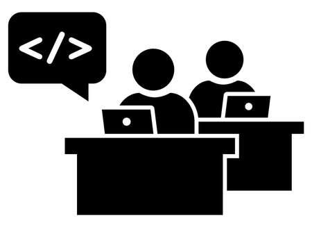 노트북에 근무하는 소프트웨어 엔지니어의 블랙 로그인하십시오.
