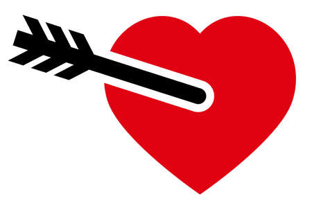 Valentines day symbol - heart and arrow