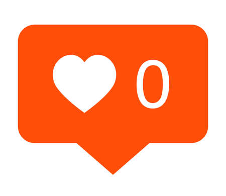 Vector icon of social media notification about no likes