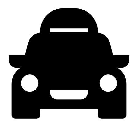 Vector icon of car with roof rack