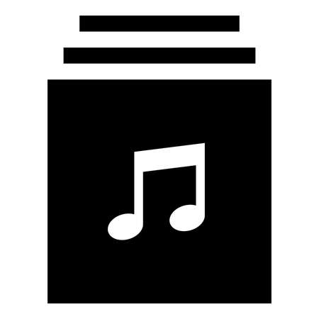 Vector icon of music library