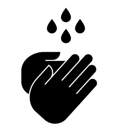 Vector icon of handwashing Vektorgrafik
