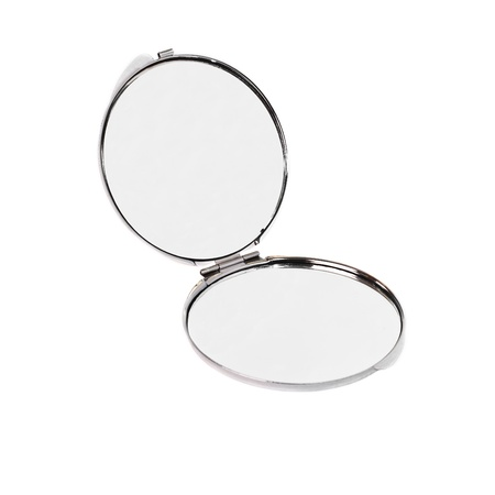 The open pocket mirror on a white background