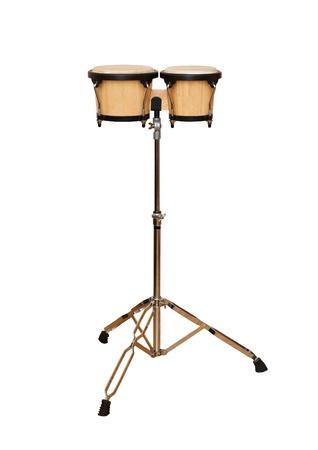 bongos: Bongos on a stand on a white background Stock Photo