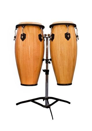 instruments de musique: Conga isol� sur fond blanc