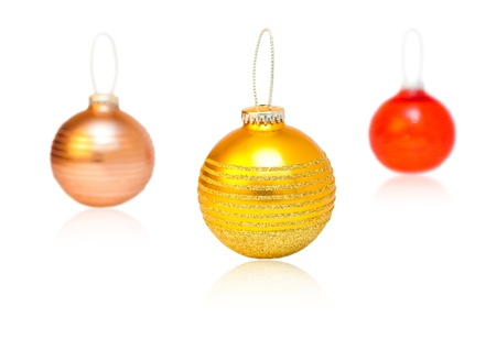 Christmas decorations on a white background photo