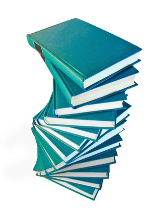 bibliomania: A stack of books on a white background