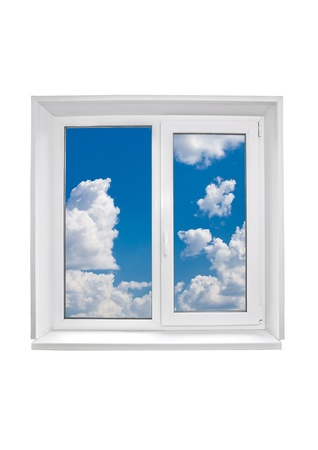 Plastic window on white background Stock Photo - 20086655