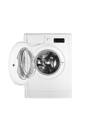 Washing machine isolated on white photo