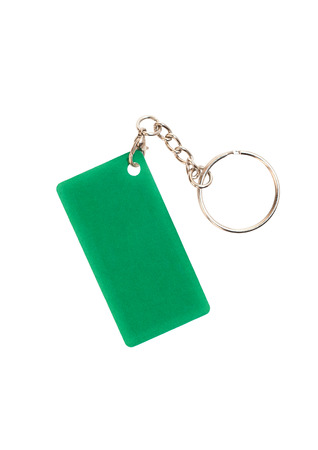 hotel chain: Keychain isolated on white