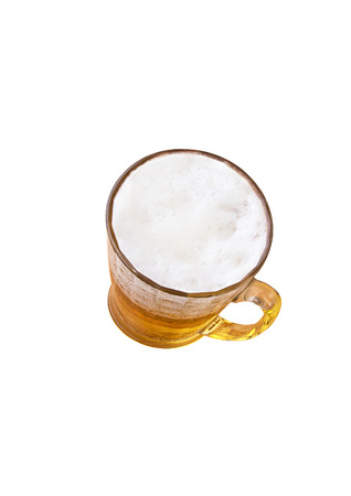 Mug of beer on a white background photo