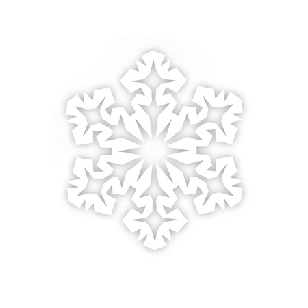 Snowflake from a paper on a white background photo