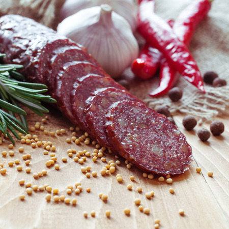 Smoked sausage with spices