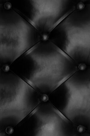 black quilted leather photo