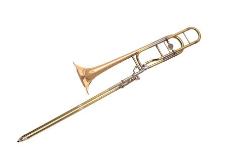 Trombone isolated on white photo
