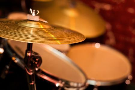 musical instrument parts:  Fragment drumset closeup