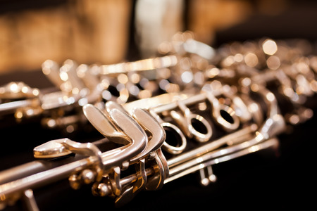 Fragment clarinet closeup Reklamní fotografie