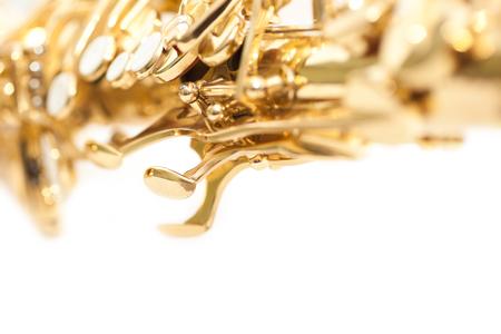 Fragment saxophone closeup