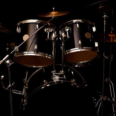 drum kit: Fragment of a drum kit in dark colors