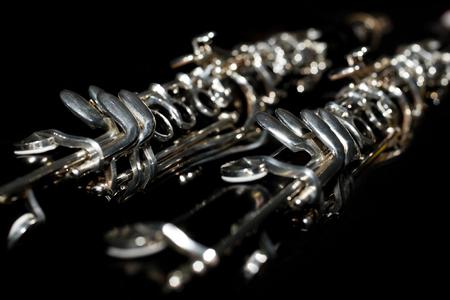 clarinete: Fragmento del clarinete en colores oscuros