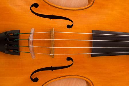 Detail closeup of a violin Stock Photo