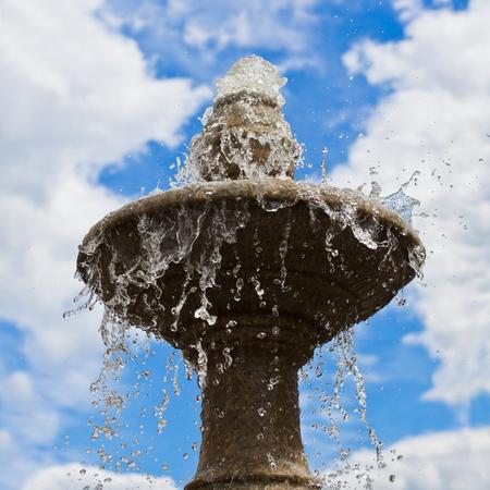 Fragment of a city fountain closeup Stock Photo