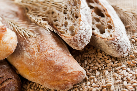 Various breads closeup Reklamní fotografie