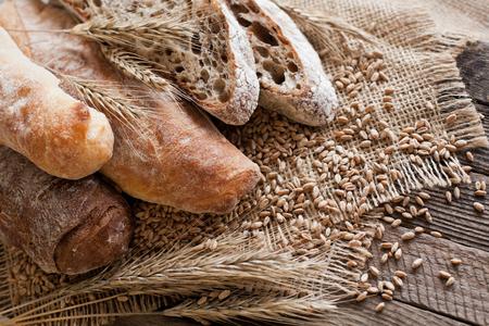 Various breads closeup Stock Photo