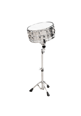 Drum on stand isolated on white background