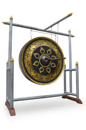 exotic gleam: Gong on white background
