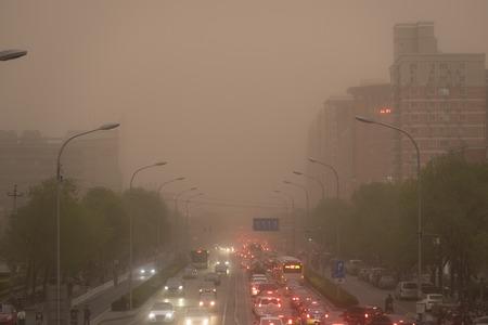 Zandstorm in Peking